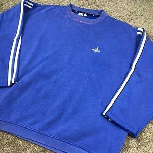 VTG Faded Bleached Adidas 3 Stripes Sweatshirt